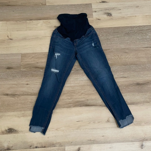 1822 Skinny Distressed Maternity Jeans size 28